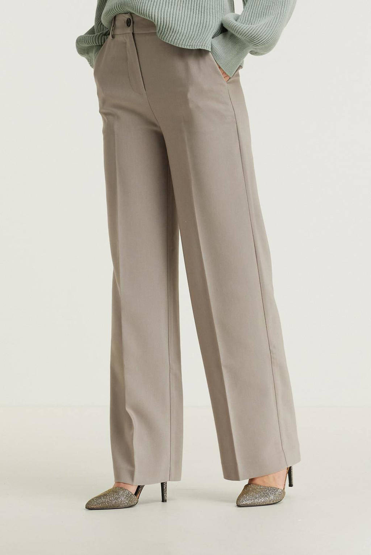 Modström straight fit pantalon Gale taupe, Taupe