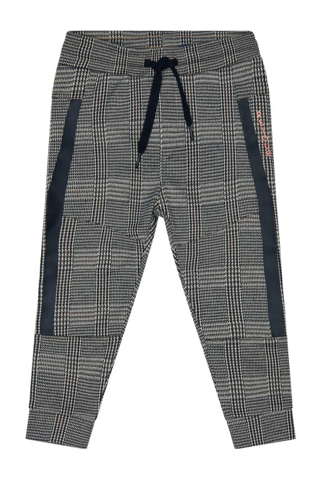 Retour Denim geruite regular fit broek Seth zwart/grijs, Zwart/grijs