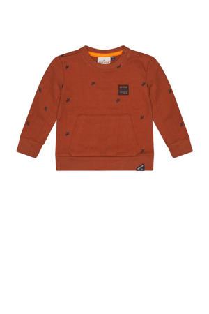 sweater Kenji met all over print brique