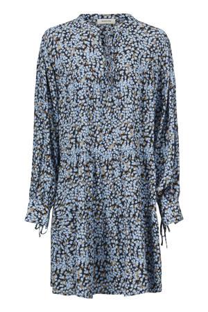 jurk Menna met all over print blauw