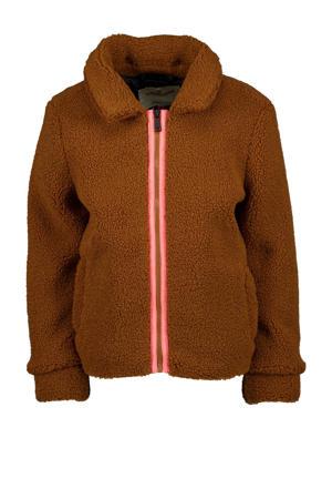 teddy winterjas Trestha bruin