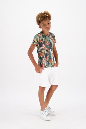 T-shirt HAUNI met all over print groen/beige/oranje