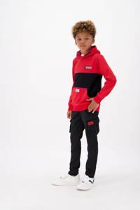 Vingino skinny broek Sumi met logo zwart, Zwart
