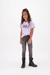 Vingino T-shirt Henna met printopdruk lila, Lila