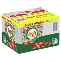Dreft Platinum Plus all in one vaatwastabletten - 95 stuks