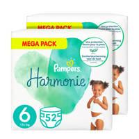 Pampers Harmonie maat 6 (13+kg) -  104 Luiers, 6 (13+ kg)