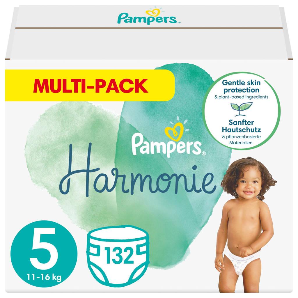 Pampers Harmonie maandbox maat 5 (11kg-16kg) - 132 Luiers, 5 (11-16 kg)