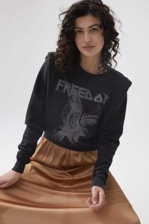 sweater Free van biologisch katoen donkergrijs