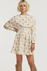 JOSH V A-lijn jurk Bay met all over print wit, Wit
