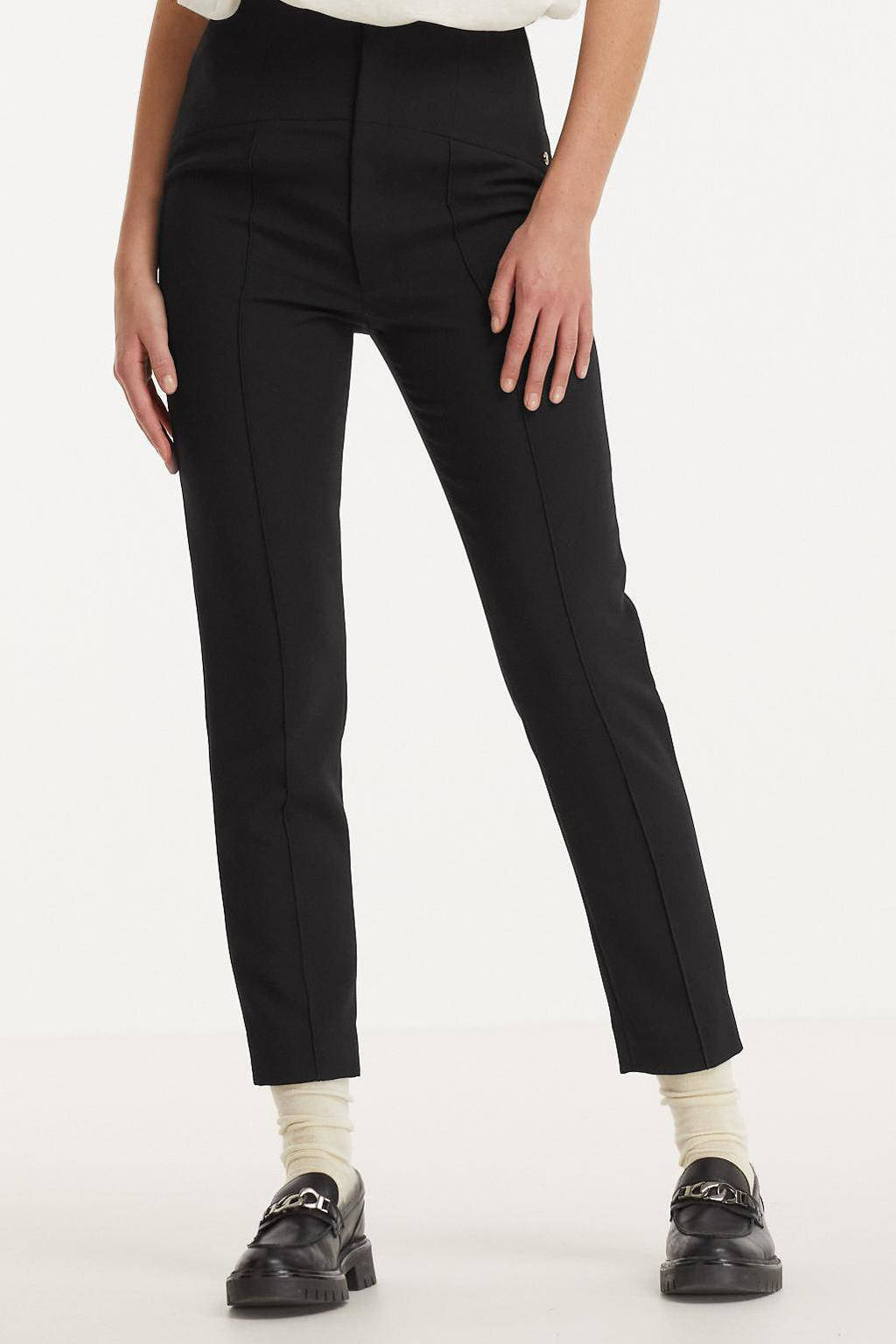 JOSH V high waist skinny broek Celym zwart, Zwart