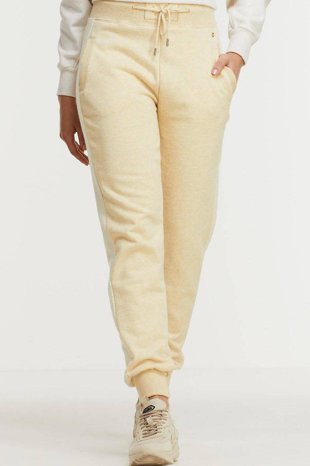 JOSH V tapered fit broek Betty ecru/beige, Ecru/beige