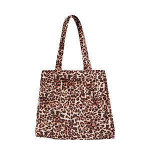 shopper Fiola met luipaardprint bruin