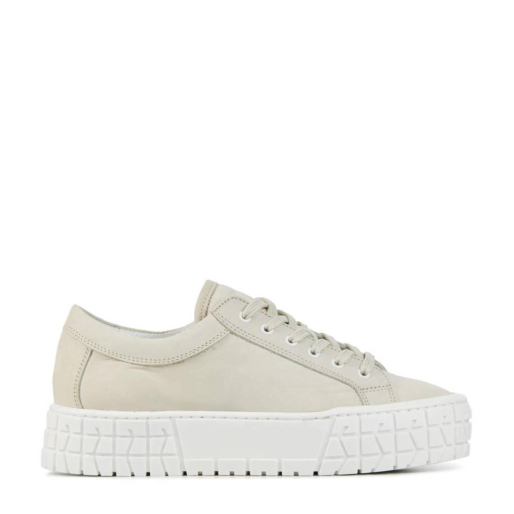 Hip D1922  nubuck plateau sneakers beige, Beige