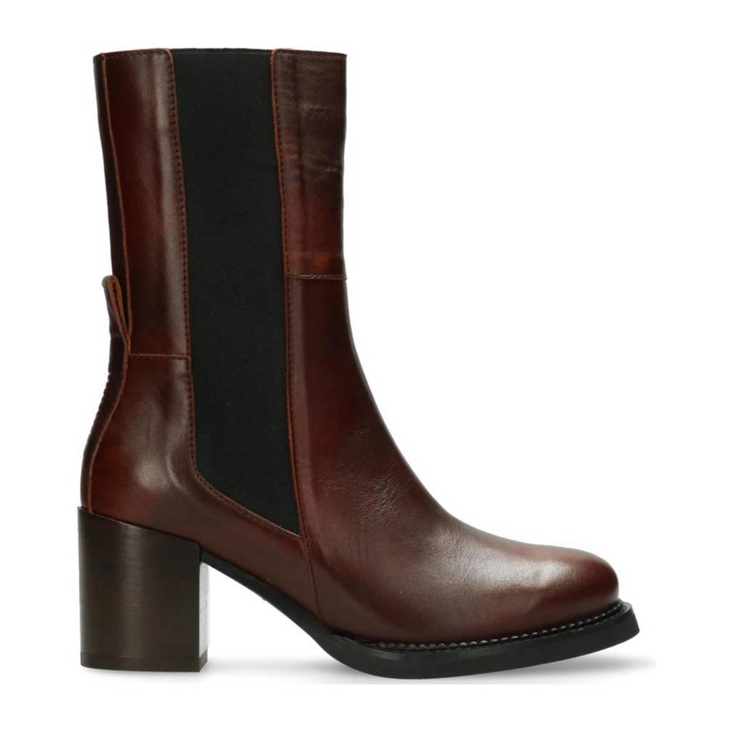 Shabbies Amsterdam Lieve  leren chelsea boots donkerbruin, Donkerbruin