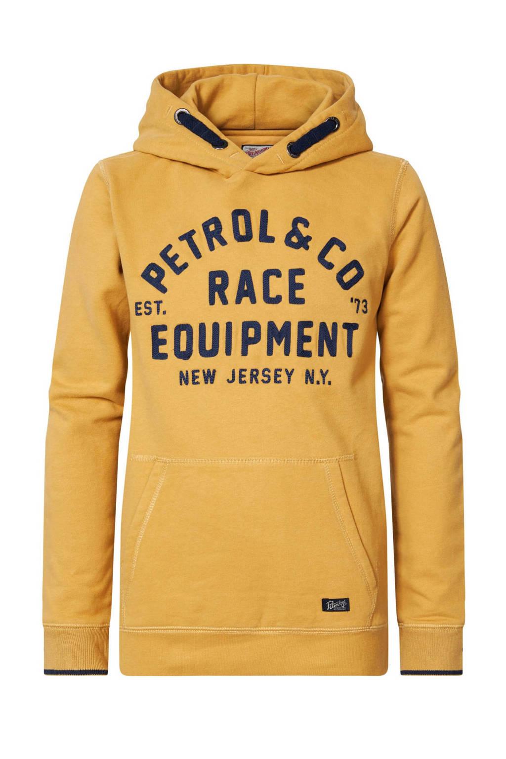 Petrol Industries hoodie met logo geelzand, Geelzand