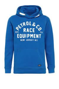 Petrol Industries hoodie met logo felblauw, Felblauw