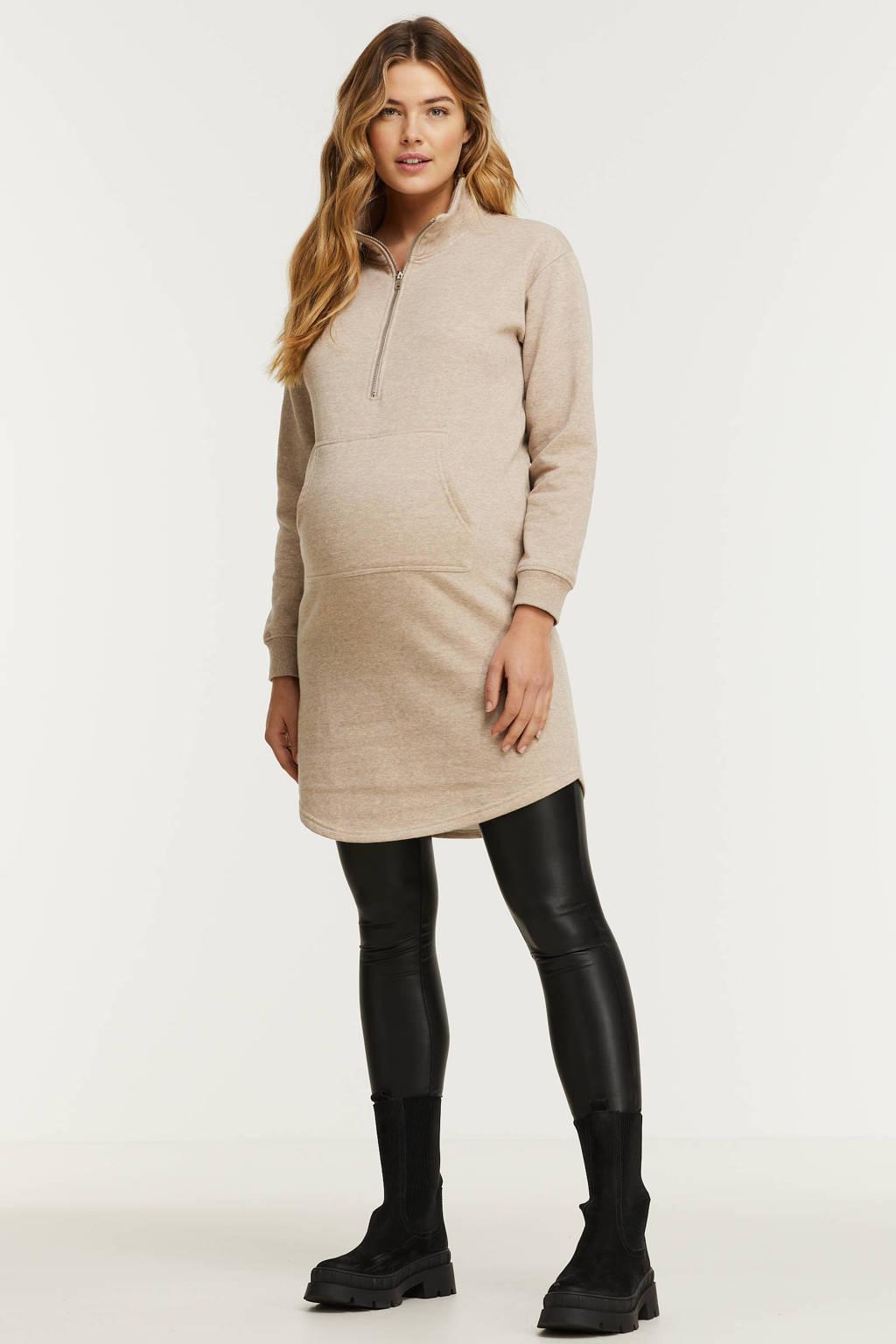 PIECES Maternity gemêleerde zwangerschapssweater PCMCHILLI lichtbruin, Lichtbruin