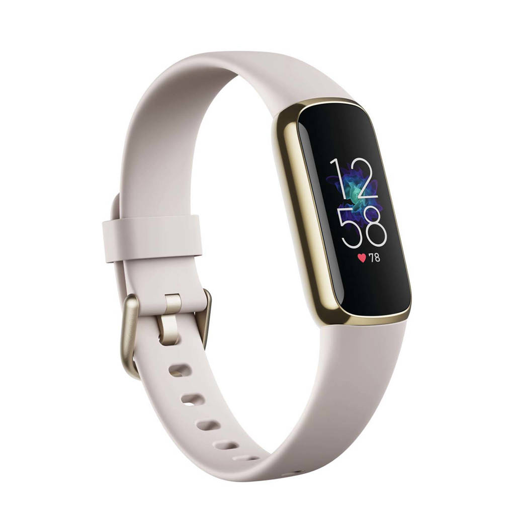 Fitbit Luxe activity tracker (wit), Goud/wit
