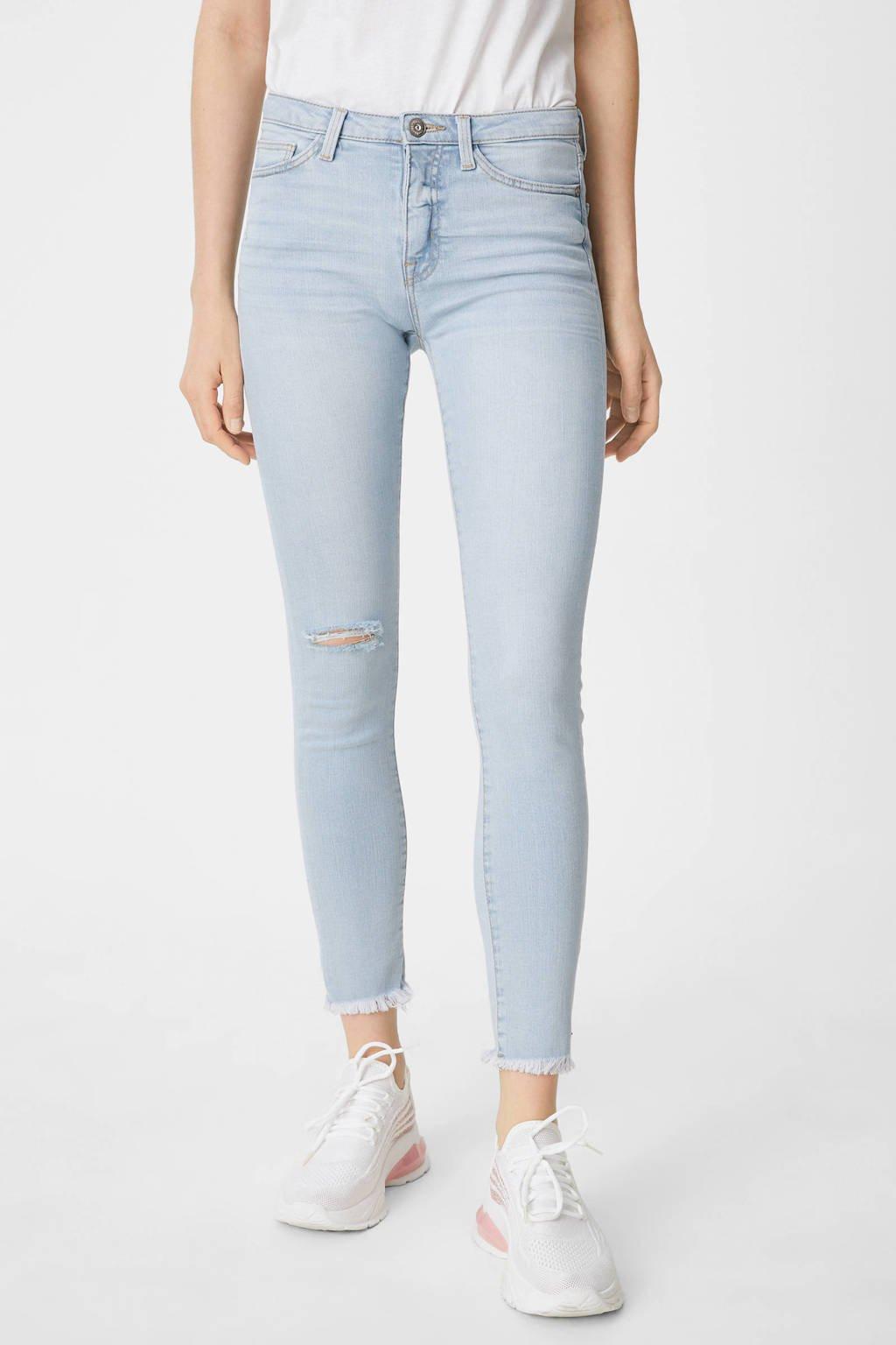 C&A Clockhouse skinny jeans lichtblauw, Lichtblauw