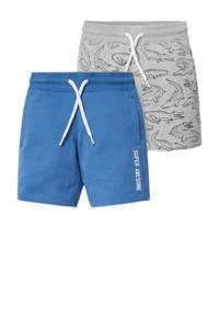 C&A sweatshort - set van 2 blauw/grijs, Grijs/blauw