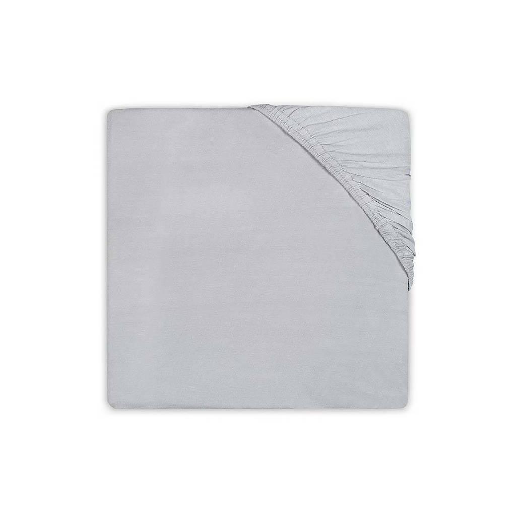Jollein katoenen hoeslaken juniorbed 70x140/75x150cm soft grey Lichtgrijs
