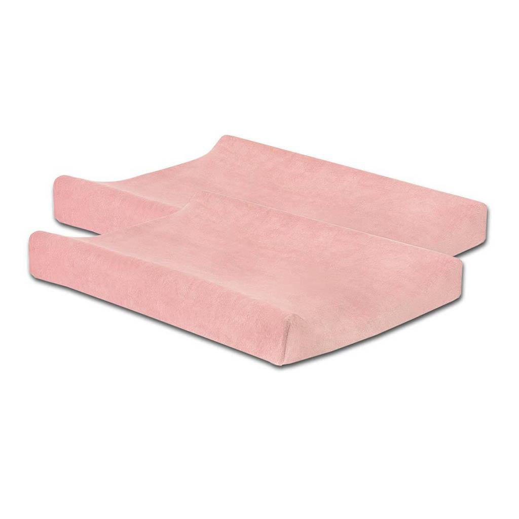 Jollein aankleedkussenhoes badstof - set van 2 50x70cm soft pink, Roze