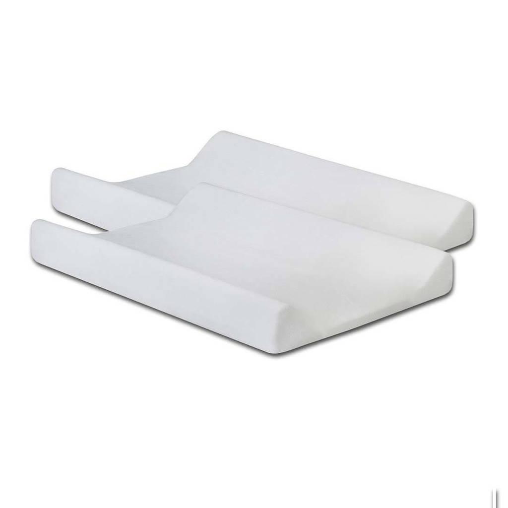 Jollein aankleedkussenhoes badstof - set van 2 50x70cm wit, Wit