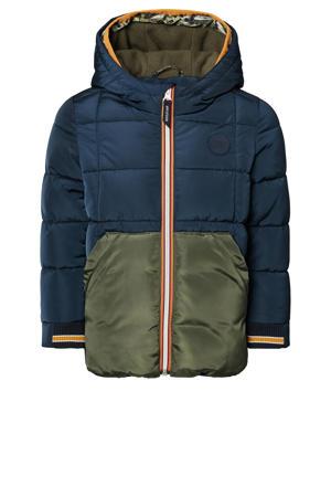gewatteerde winterjas Bundi donkerblauw