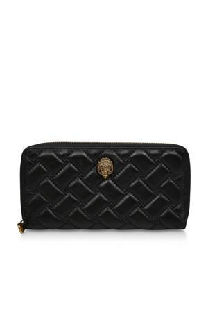 portemonnee met crocoprint zwart