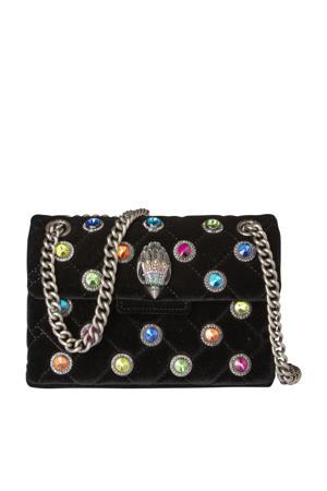 crossbody tas Velvet Mini Kensington zwart