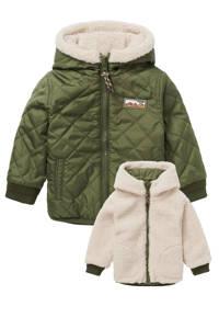 Noppies baby reversible winterjas Redding groen, Groen