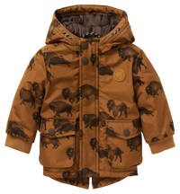 Noppies baby  winterjas Rakovic met camouflageprint bruin, Bruin