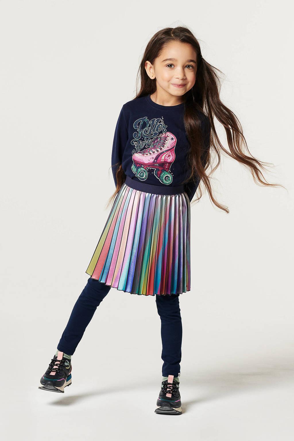 Noppies rok Braga donkerblauw/paars/geel/groen/rood, Donkerblauw/paars/geel/groen/rood