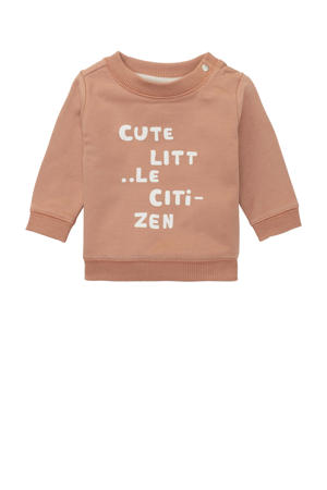 baby sweater Roccaraso met tekst beige