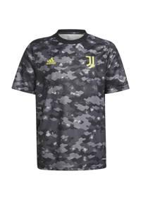 adidas Performance Junior Juventus FC presentatie shirt, Grijs/zwart