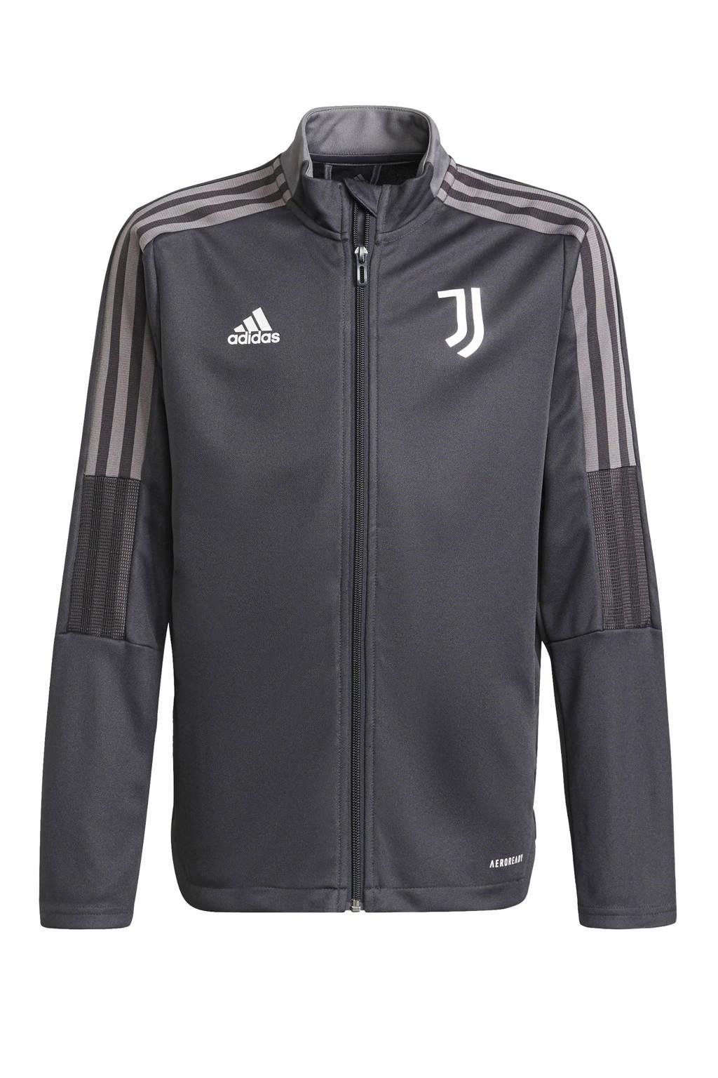 adidas Performance Junior Juventus FC trainingspak, Grijs/zwart