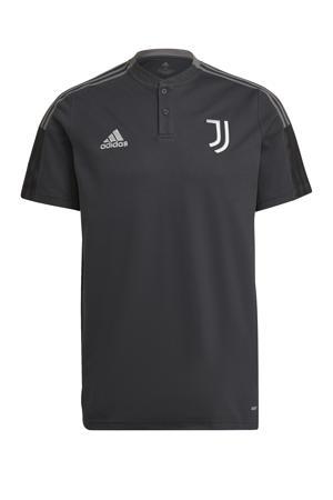 Senior Juventus FC voetbalpolo training donkergrijs