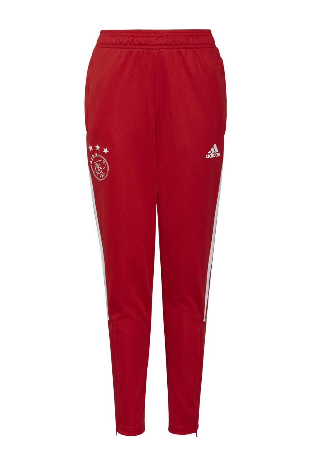 adidas Performance Junior Ajax Amsterdam voetbalbroek training, Rood