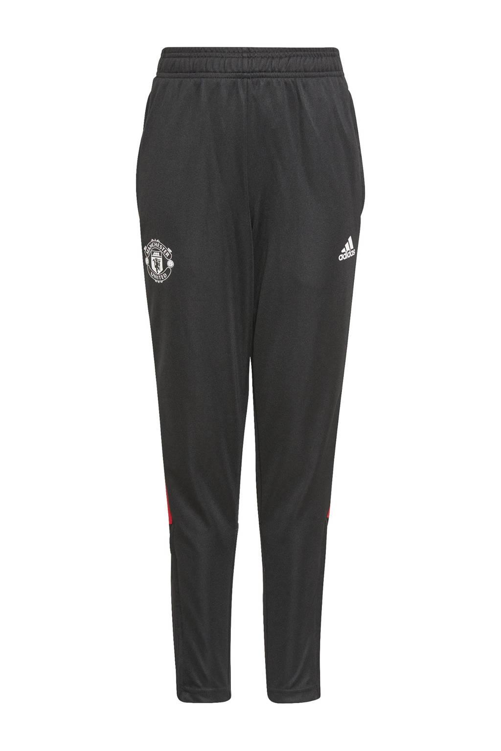 adidas Performance Junior Manchester United voetbalbroek training, Zwart