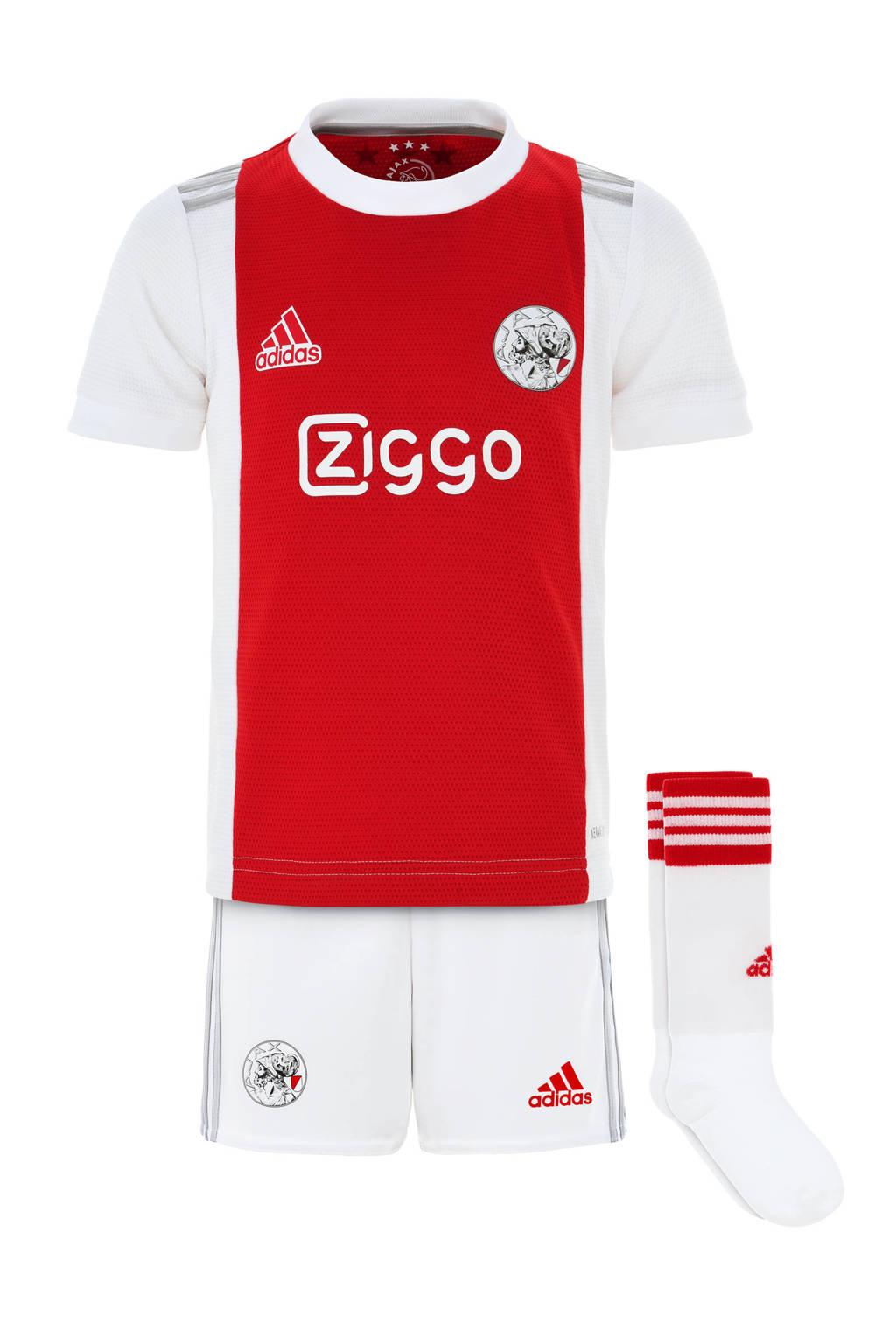 adidas Performance Junior Ajax Amsterdam voetbalset thuis, Wit/rood