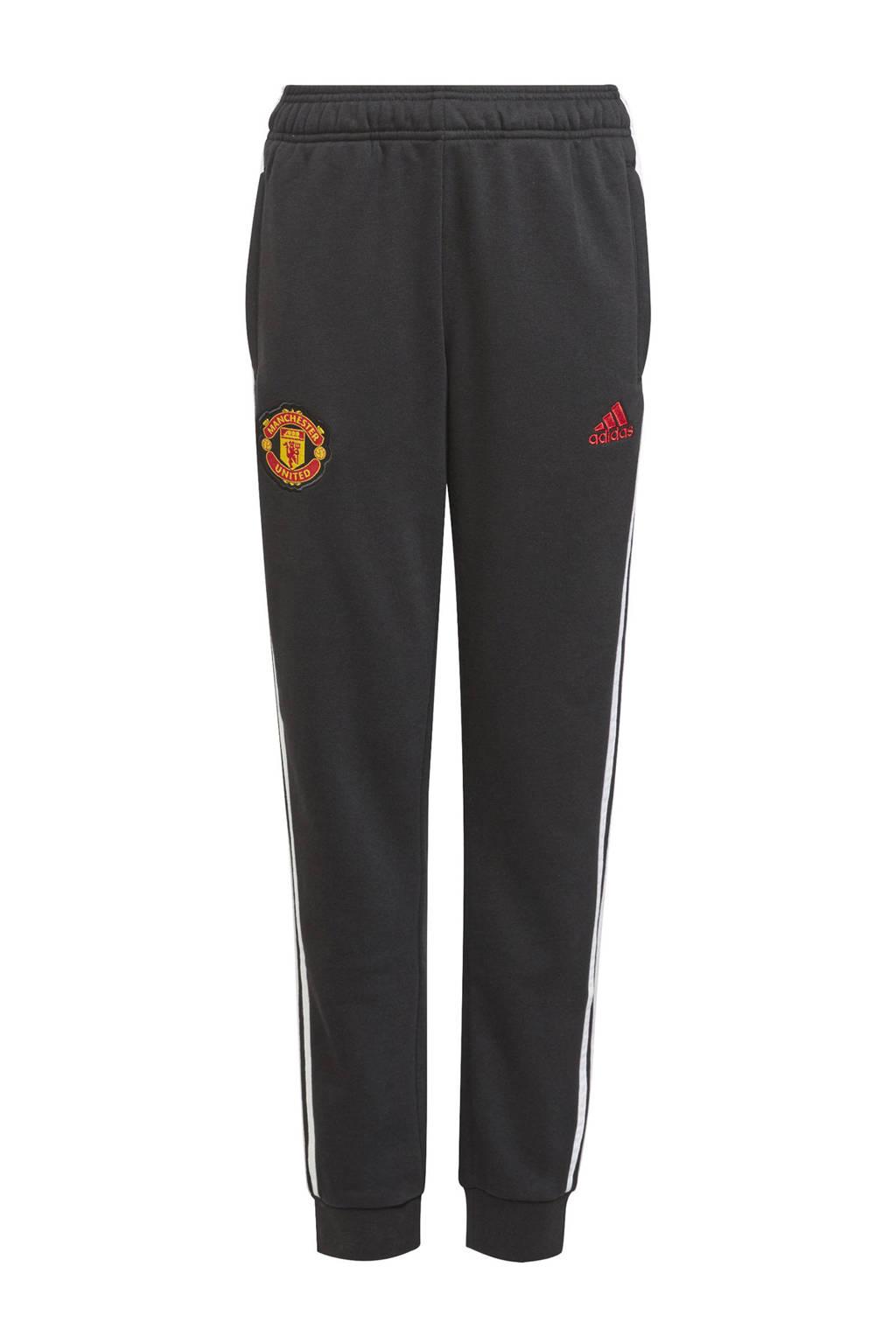 adidas Performance Junior Manchester United voetbalbroek training zwart, Zwart