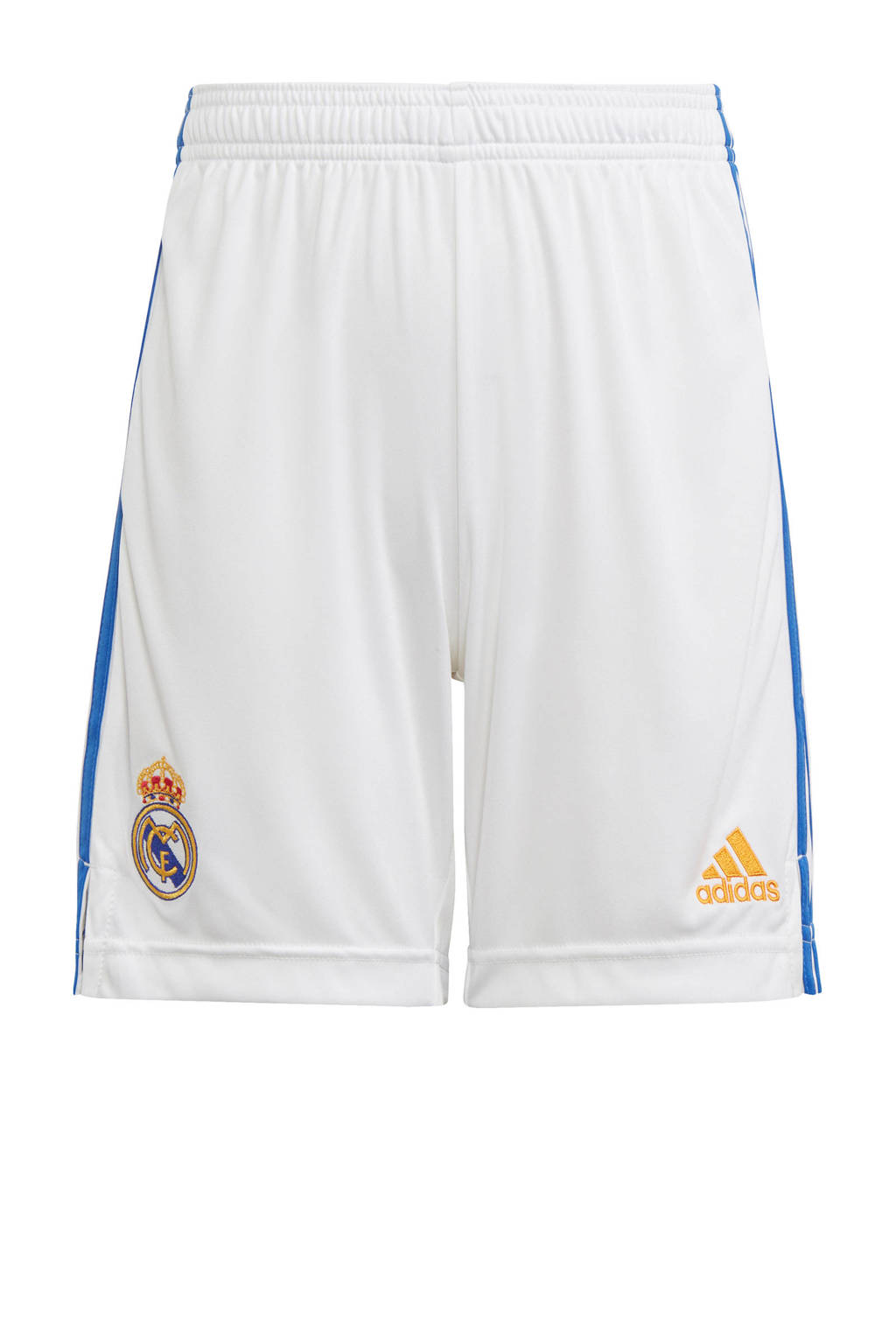 adidas Performance Junior Real Madrid voetbalshort thuis, Wit