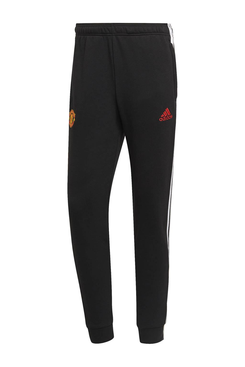 adidas Performance Senior Manchester United voetbalbroek zwart/wit, Zwart