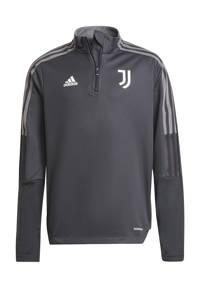 adidas Performance Junior Juventus FC voetbalsweater training, Donkergrijs