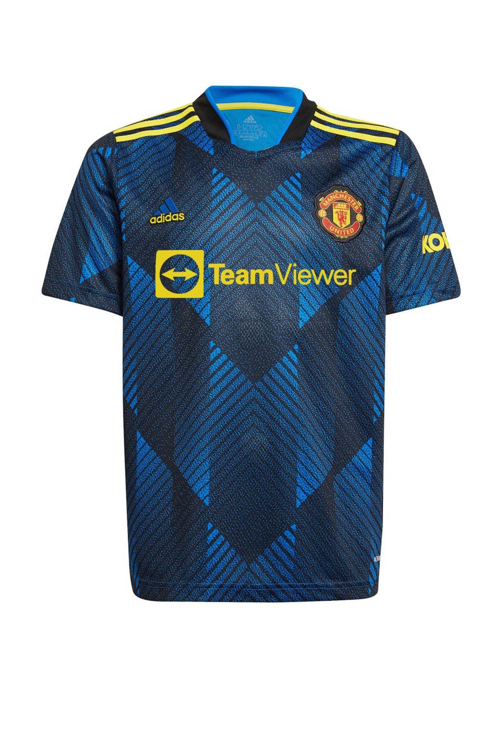 adidas Performance Junior Manchester United voetbalshirt, Blauw