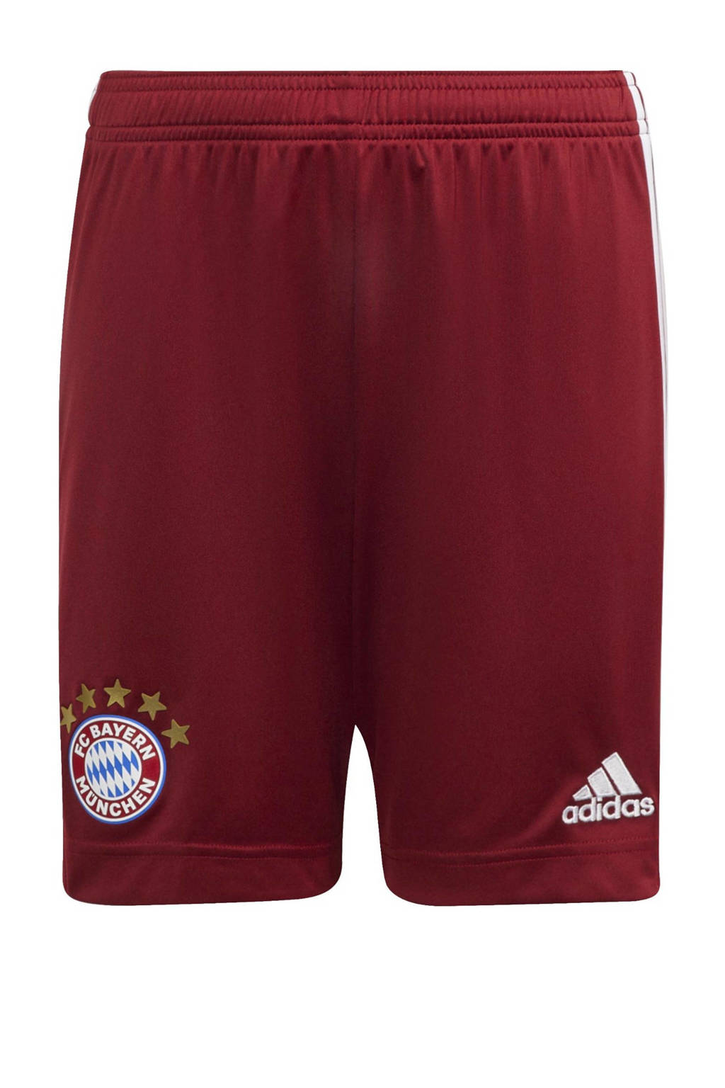 adidas Performance Junior FC Bayern München voetbalshort thuis, Rood