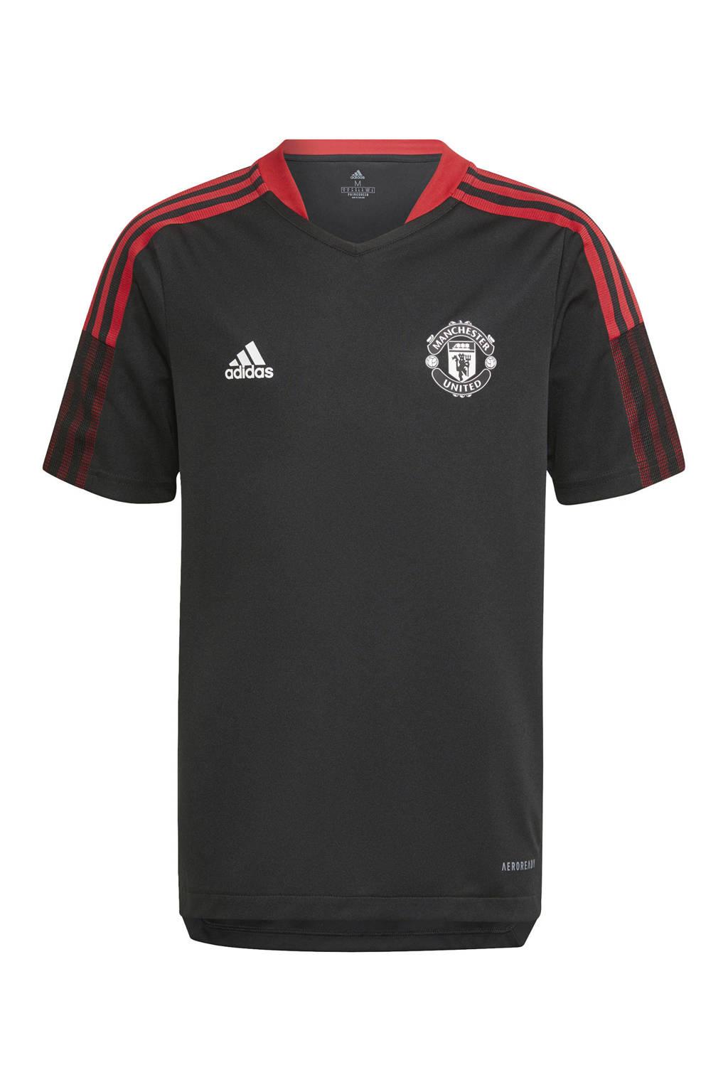 adidas Performance Junior Manchester United voetbalshirt training, Zwart