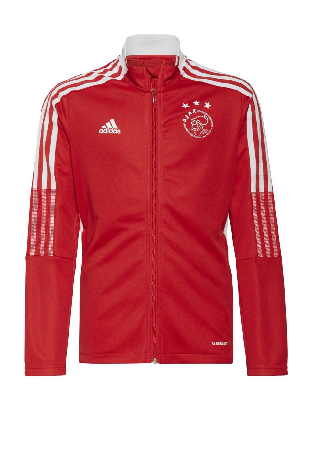 adidas Performance Junior Ajax Amsterdam voetbalvest, Rood