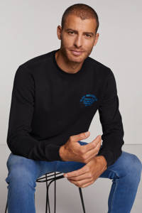 Petrol Industries sweater met logo zwart, Zwart