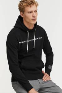 Petrol Industries hoodie met tekst black, Black